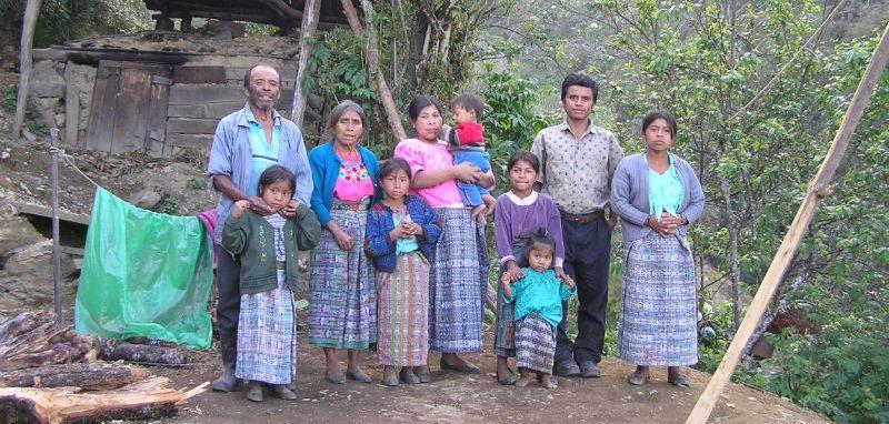 Guatemalan Family from the village of Santa Eulalia