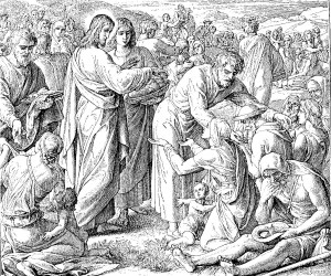 Feeding of the 5000 by Julius Schnorr von Carolsfeld