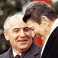 Reagan and Gorbachev in Red Square