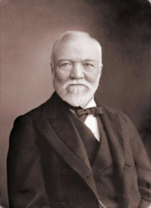 Andrew Carnegie made lots of money and used a most of it to help found schools, libraries and beneficial funds.