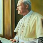 John Paul II by window