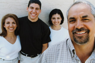 Traditional Family life is important to Hispanics.
