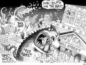 free-market-big-government-monsters